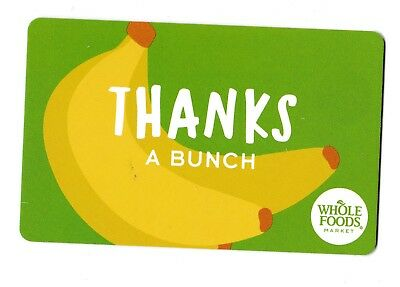 Whole Foods collectible gift card no value mint #014 Thanks a Bunch