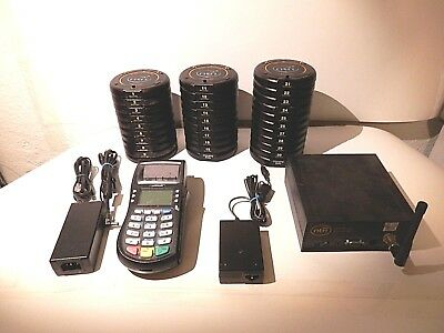29 NTN LT2001 Digital Wireless Restaurant Paging Coaster w/ POS Optimum Terminal