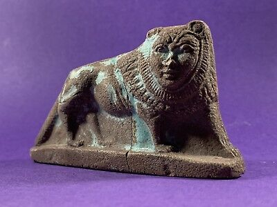 G2 Stunning Piece - Circa 664-332Bc Ancient Egyptian Maahes Statuette