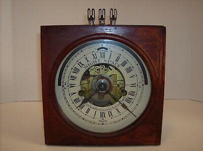 Vintage American Bank Protection Company Electric Timer Safe Vault Steampunk