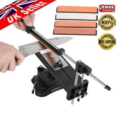 Sharpener Kitchen Knife Sharpening Tools Sword System Fix-angle + 4 Whetstones