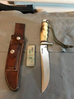"Randall Knife 3-6 Lower ""S"" Stag- Sheath- 1970's Vietnam era."