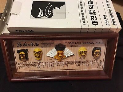 Korean Traditional The Mask Play Of Hahoe Byeolsin Exorcism Frame Shadowbox