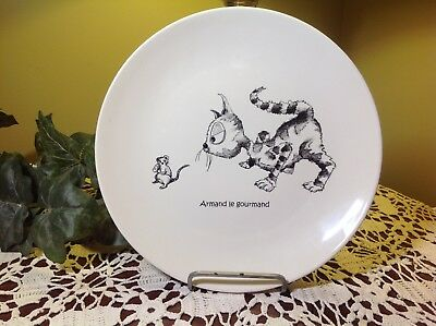 "KISS THAT FROG Cats of Paris ""Armand the Greedy"" Dinner Plate 11"""