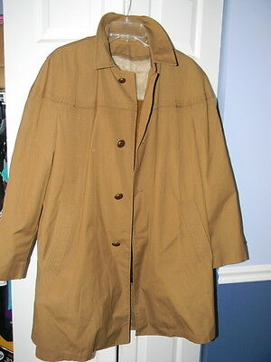 989ce1ec0c9 SEARS Vintage Men s Raincoat Zip Out Lining Size 38R All Weather Coat Brown