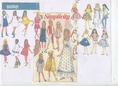 Vintage Collection Of- 3 -  Skipper  Doll Wardrobe Patterns-Reproductions-# 8