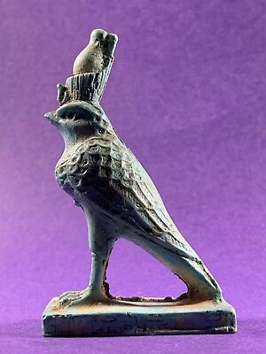 Very Beautiful Circa 715-332Bc Ancient Egyptian Horus God Statuette