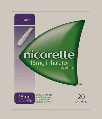NICORETTE INHALATOR 15MG 9 BOXES OF 20 = 180 CARTRIDGES.  Only £129.99