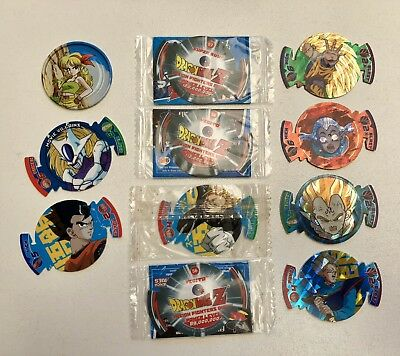 Dragonball Z Series 3 Fusion Fighter Dizk Tazos Sealed And Unsealed