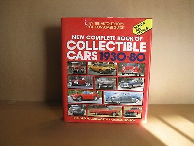 New Complete Book Of Collectible Cars 1930-80 (Updated Edition) Langworth/Robson