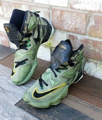 sports shoes e3ad1 dea60 NIKE LEBRON XIII AS All Star 13 Alligator Green   Black 835659 309 Size 9