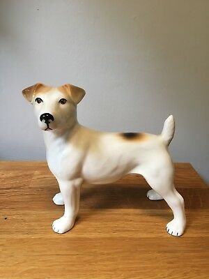 Terrier England Porcelain Dog Statue Figure by Nelson Staffordshire