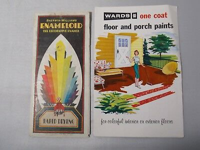 1930's  Sherwin-Williams & 1970's Montgomery Ward Pamphlets of Paint Samples