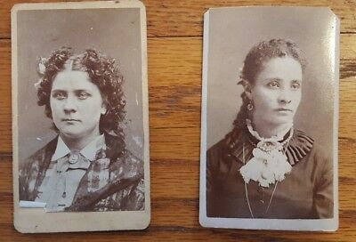 Vintage/Antique cabinet card photo lot of 2  Late 1800's early 1900's.