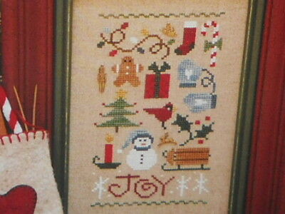 Lizzie Kate ~ Joy Sampler includes Charms ~ Cross Stitch Pattern ~ NIP