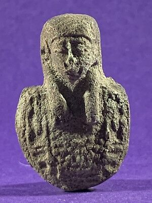 Circa 660-330Bc Beautiful Ancient Egyptian Pharaonic Bust Amulet