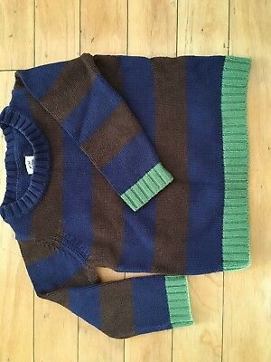 BODEN Mini Boden Striped Cotton Sweater Boy's Toddler Size 2-3 years