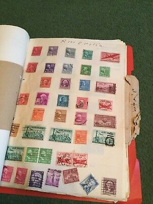 World Wide Stamp Album With Stamps 68 Pages With Stamps