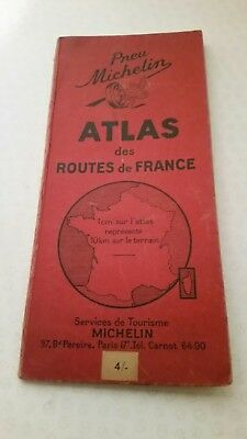 Vintage 1949 Michelin French road map