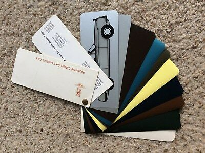 1960s Rolls-Royce and bentley coachbult cars salesmans color samples.