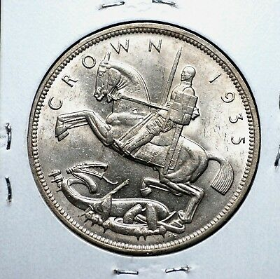 Great Britain 1935 Silver Crown in Uncirculated Condition!