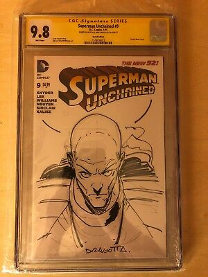 Nick Dragotta Original Art CGC Ss Superman Unchained 9 Lex Luthor Sketch