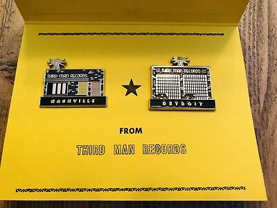 THIRD MAN RECORDS Holiday 2017 Storefront Pin Set RARE Jack White