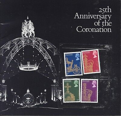 1978 25th ANNIVERSARY OF THE CORONATION - SOUVENIR BOOKLET AND MINT GB STAMPS