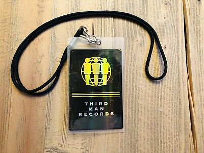 THIRD MAN RECORDS AAA LAMINATED PASS Backstage - Jack White Rare WHITE STRIPES