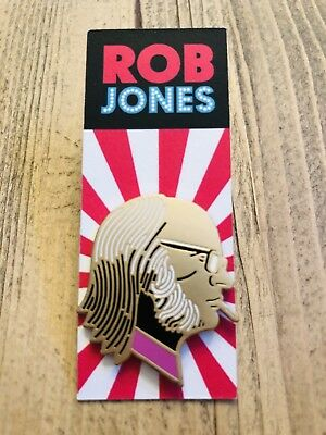 ROB JONES Rare Pin Mondocon WHITE STRIPES Jack White