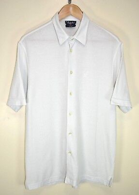 AUSTRALIAN BY L'ALPINA 80s VINTAGE RETRO SHORT SLEEVED BUTTON UP SHIRT size S/M