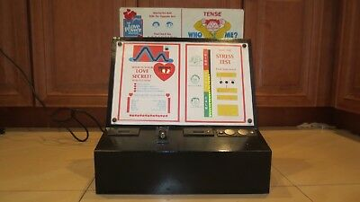 Antique Love and Stress Tester and Header COIN OPERATED ARCADE MACHINE