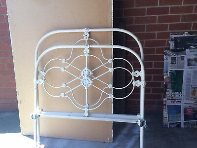 Antique Cast Iron King Single Bed