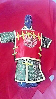 Chinese Style Wine Bottle Cover Red & Gold/Green NEW g8gift idea FREE POST.