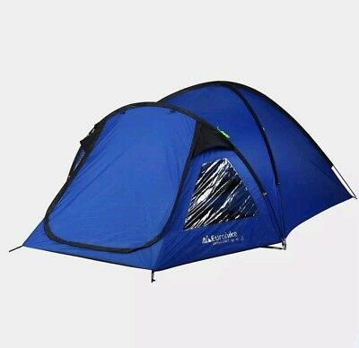 """EUROHIKE"" Cairns DLX 3 Man Tent Blue One Size. NEW (See all images)"