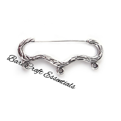 Brooche Finding Pin - Bow and Arrow Antique Silver
