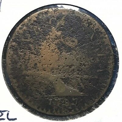 1787 New Jersey Copper Coin, Camel Head (48385)