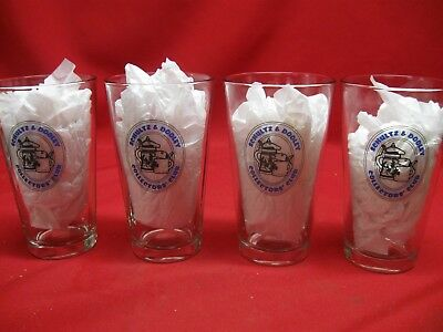 Utica Club Schultz & Dooley Collectors Club Beer Glasses - Lot Of 4 - Never Used