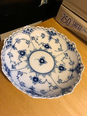 Royal Copenhagen Blue Fluted Full Lace Plate/bowl