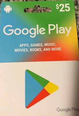 $25 Google Play Gift Card email delivery