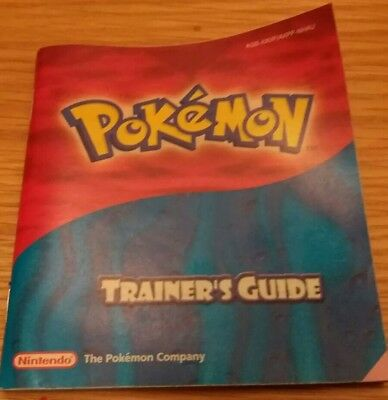 Gameboy Advance Pokemon Ruby/sapphire Trainer's Guide