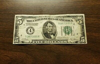 USA, 5 dollars 1928  gold certificate