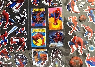 SPIDERMAN Padded PVC Stickers 12 Packs 4 Different 3 Of Each - PARTY BAG GIFT