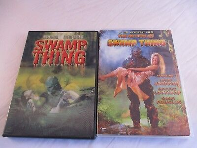 2 DVDs, Swamp Thing/Return Of Swamp Thing. Horror, PG, Andrienne Barbeau. 1982-9
