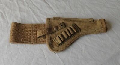 Canvas Tanker Holster British for .38 Webley or Enfield Vintage WW1 WW2