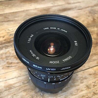 Sigma AF 18-35mm f/3.5-4.5 Aspherical Ultra Wide Angle Zoom Lens Canon Case