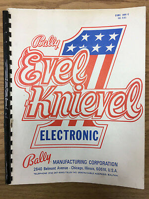 Bally Evel Knievel Original Pinball Manual