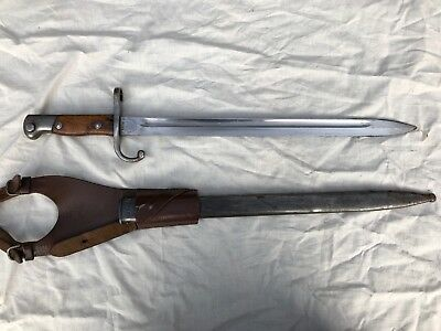 Excellent Argentine Mauser Bayonet, Scabbard and Frog, Matching Numbers!