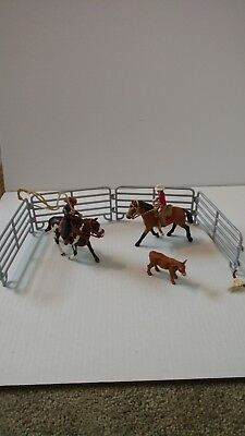 Schleich North America Team Roping with Cowboy 41418 and Western rider 42112