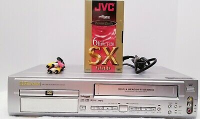 Emerson EWD2202 DVD VCR Combo Player VHS Recorder 4 Head HiFi Stereo Video Tape